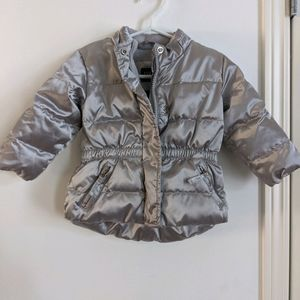 Silver puffer Baby Gap jacket